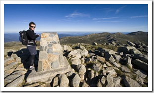 Will at the peak of Mount Kosciuszko