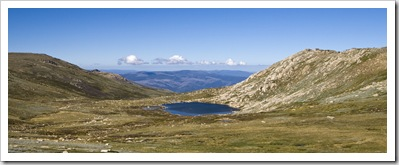 Lake Cootapatamba below Mount Kosciuszko