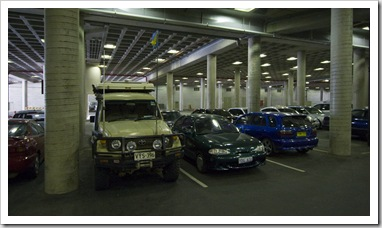 The Tank underneath Parliament House (the only underground parking lot she's ever been able to fit into!)