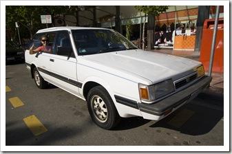 Losa rockin' in Will's Subaru