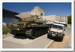Two tanks at the War Memorial