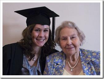 Sophie and Rosabelle at Sophie's graduation