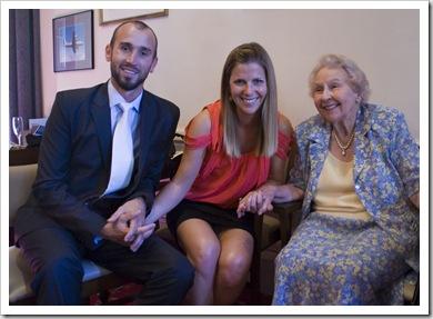 Sam, Lisa and Rosabelle at Sophie's graduation