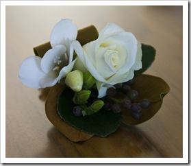 One of the corsages