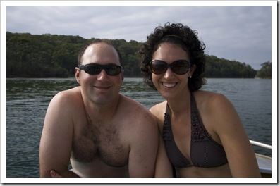 Jarrid and Jacque at Lake Conjola