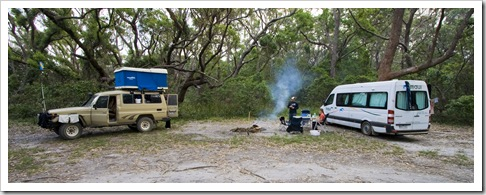 Camping at Aragunnu in Mimosa Rocks National Park