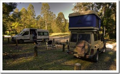 Camping at Euroka