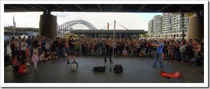 Street performers in Circular Quay