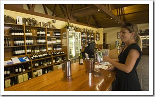 Lisa tasting at McWilliams Mount Pleasant Winery