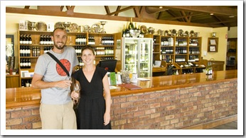 Sam and Lisa at McWilliams Mount Pleasant Winery