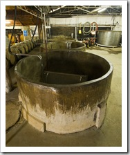 Open-top concrete fermenters at Tyrrell's Wines