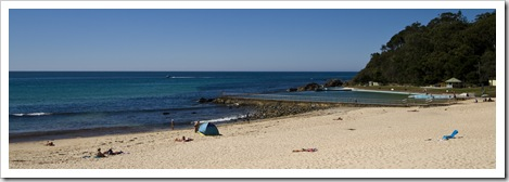 One of the many picturesque beaches around Forster