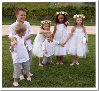 The kids before the wedding