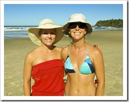 Cheryl and Lisa at Coolum Beach
