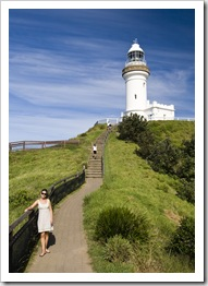 Lisa on Cape Byron