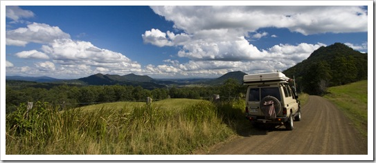 Driving into Border Ranges National Park
