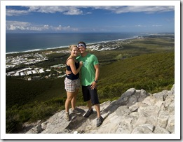 Cheryl and Chris at the top of Mount Coolum