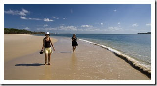 Cheryl and Lisa on the beach at Inskip