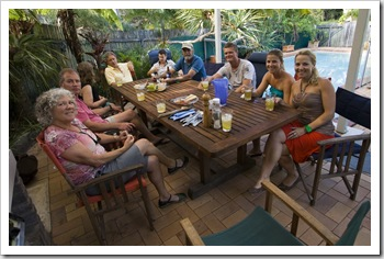 Gail, Randy and the Newbys arrive in Coolum
