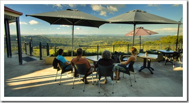 Enjoying an afternoon drink with a view in Montville