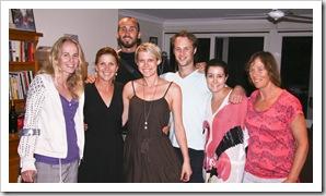 Hannah, Lisa, Sam, Jess, Nick, Emma and Peggy