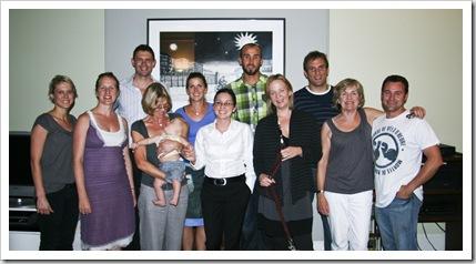 Jess, Kate, Alistair, Jenny, Alfie, Lisa, Vanessa, Sam, Sam, Rob, Angie and Shane