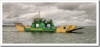 The Manta Ray barge