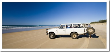 Bessie on Fraser Island's eastern beach
