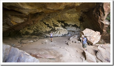 Chris and Lisa in Cania Gorge's Dragon Cave