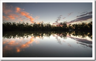 Sunset on the banks of the Dawson River near Moura