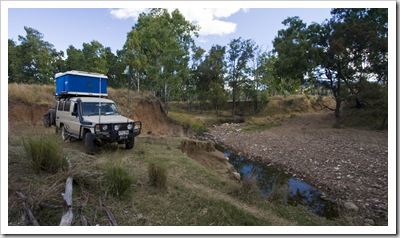 Camping on one of the station's outside Carnarvon Gorge National Park