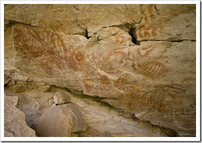 Aboriginal artwork in Cathedral Cave