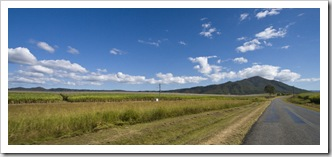 Seemingly endless sugar cane fields around Mackay