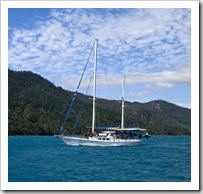 Some lucky devils sailing the Whitsundays