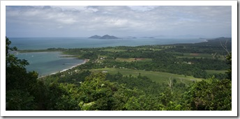 Looking over Mission Beach and Dunk Island