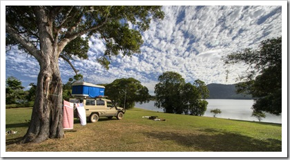 Our awesome campsite on Lake Tinaroo
