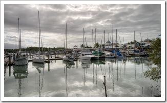 Lots of high-priced yachts in the Port Douglas marina