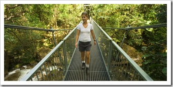Lisa on the Rainforest Circuit Track