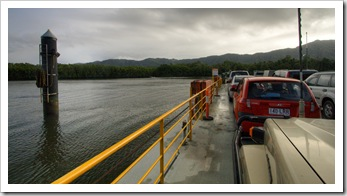 Crossing the Daintree River on our way north