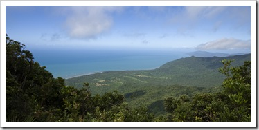 View of the Daintree rainforest from the top of Mount Sorrow