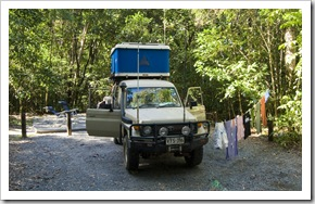 Camping at Noah Beach near Cape Tribulation