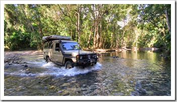 Making our way north through Daintree National Park