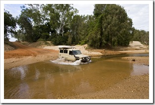 One of the many water crossings along Battle Camp Road in Lakefield National Park