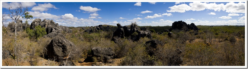 Panoramic of the Chillagoe area near Balancing Rock