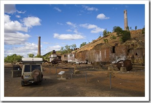 Ruins of the old copper, lead, silver and gold smelters just outside the town of Chillagoe