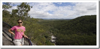 Lisa standing above the gorge formed by Davies Creek