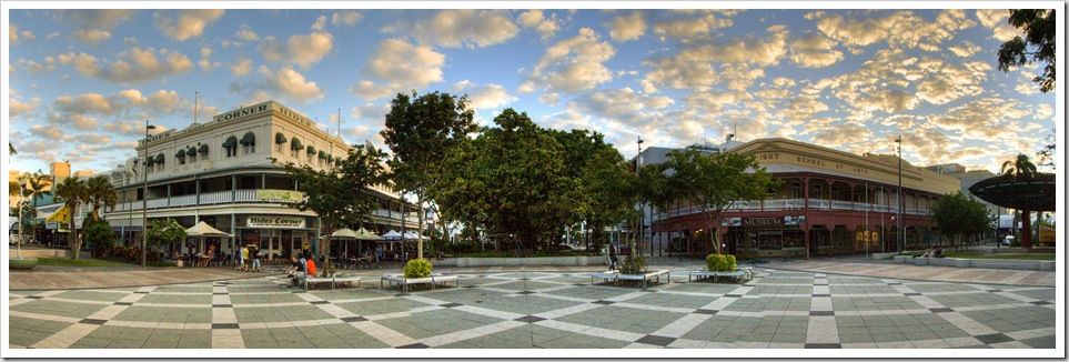 Panoramic of central Cairns