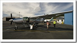 Jenni first on the Hinterland Aviation Cessna