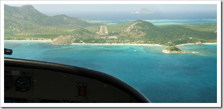 Coming in to land on Lizard Island