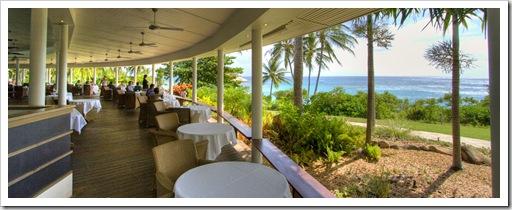 Lizard Island Resort dining facilities overlooking Anchor Bay